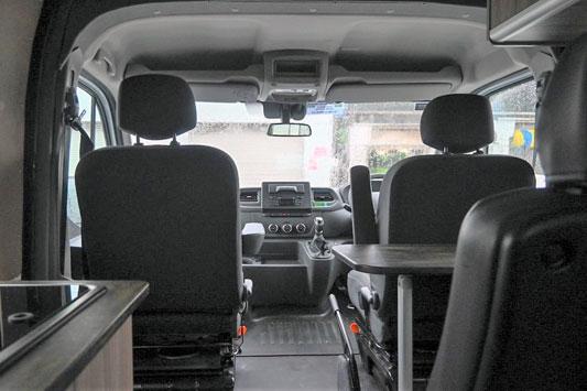 Campervan front seats