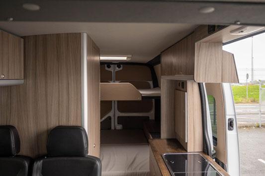 Campervan living space