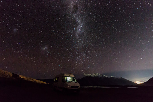 Starry nights when camping