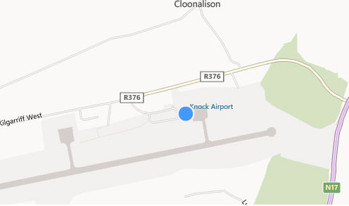 Map Of Ireland Knock.Carhire Ie Ireland West Knock Airport Location